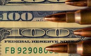 Picture background, money, cartridges