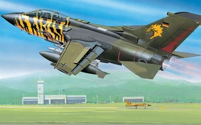 Picture figure, the airfield, the rise, Panavia, Tornado