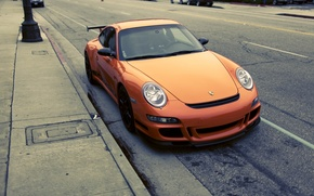 Wallpaper Photography, stop, Parking, cars, City, auto, Porshe gt3 rs, Porshe, wallpapers auto, Gt3, photo