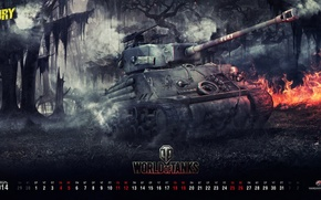 Picture Game, USA, Games, Art, World of Tanks, Wargaming Net, FuriousGFX, Sherman Fury