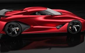 Picture concept, high-tech, red, Nissan, supercar, design, concept car, Gran Turismo, sugoi, subarashii, technology, bold lines, …