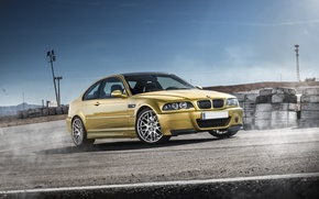 Picture BMW, BMW, gold, E46, gold