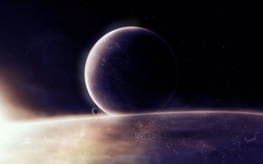 Picture space, light, planet, space, planets