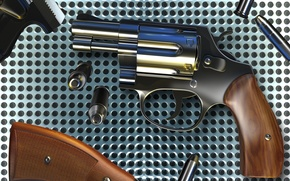 Picture grille, cartridges, metal, Revolver