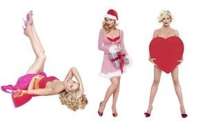 Wallpaper women, gift, model, heart