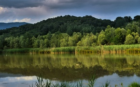 Picture The sky, Nature, Lake, Nature, Sky, Landscapce, Reflection, Lake