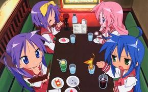 Picture cafe, Kawai, Art, Konata Izumi, MoE, TSUKASA Hiiragi, Kagami Hiiragi, Kagami Hiiragi, Lucky Star, Tsukasa …