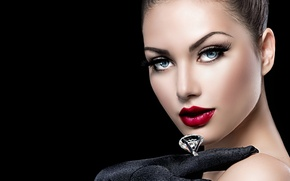 Picture look, Anna Subbotina, makeup, girl, ring