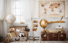 Picture Design, Toys, Suitcase, Interior, Geography
