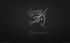 Picture grey, Minimalism, symbol, the word, Dishonored, Organikum
