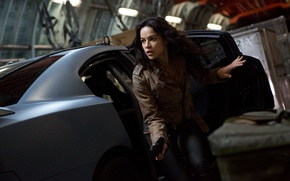 Picture look, girl, actress, brunette, Michelle Rodriguez, Michelle Rodriguez, The Fast and the Furious 6, Fast …