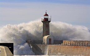 Picture the sky, squirt, wave, lighthouse