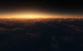 Wallpaper the sun, shifted reality, clouds, spectral