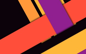 Picture line, orange, yellow, pink, black, geometry, design, color, material