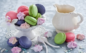 Picture cookies, sweets, dessert, cuts, Anna Verdina, meringue, meringue, macaron