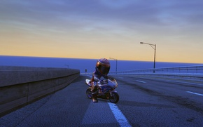 Picture road, track, The game, Burnout Paradise, twilight, racer., mini mocik