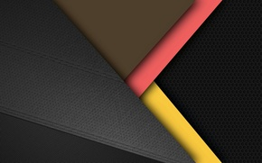 Picture yellow, grey, black, geometry, android, material