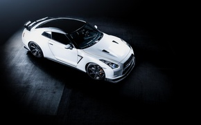 Picture Nissan, R35, GT-R, white, Nissan, white