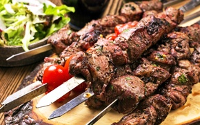 Picture meat, tomatoes, kebab, tomatoes, meat