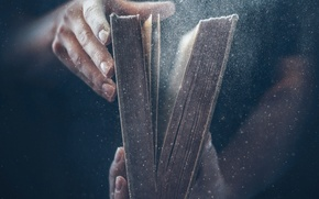 Wallpaper old book, dust, book