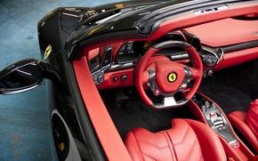 Picture ferrari, volante, deportivo, rojo