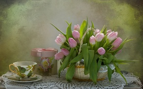 Wallpaper flowers, tulips, still life