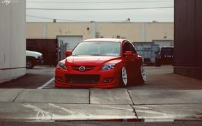 Picture red, Mazda, red, Mazda, mazda 3