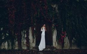 Wallpaper dress, tattoo, the bride