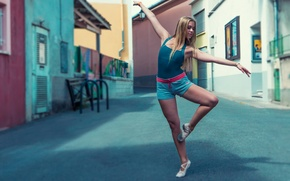 Picture street, dance, girl, the city