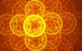 Picture flower, circles, abstraction, Wallpaper, pattern, figure, glow, wheel, fractal, figure, asterisk