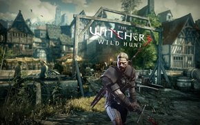 Wallpaper the witcher 3 wild hunt, Sword, Geralt, The Witcher 3 wild hunt, Home, Grass