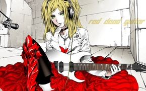 Picture RED DEAD GUITAR, HEADPHONES, RED DRESS