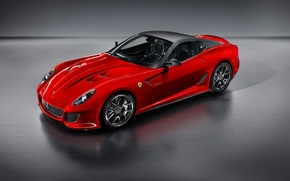 Wallpaper red, Ferrari, 599 GTO, sports car