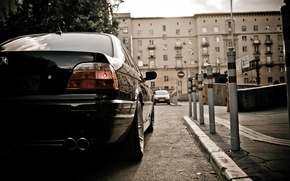 Picture Wallpaper, lights, BMW, Car, wallpapers, Boomer, seven, Beha, E38, BMW 750