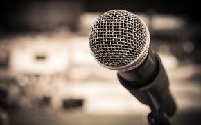 Picture metal, studio, microphone