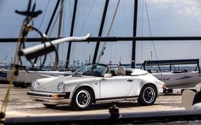 Picture 911, Porsche, silver, car, Porsche, Carrera, Speedster