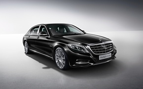 Picture black, Mercedes-Benz, Maybach, side, Mercedes, Black, X222, 2015, S 500, S-Cass
