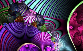 Picture line, pattern, strip, color, arc, layer