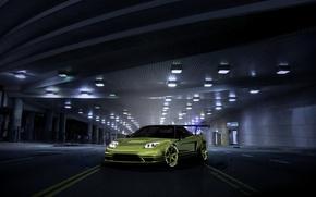 Picture car, green, tuning, rechange, honda nsx