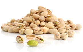 Wallpaper white background, nuts, a lot, delicious, pistachios