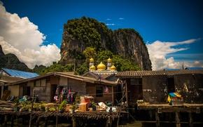Picture sea, Thailand, mosque