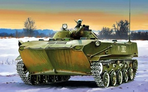 Picture weapon, war, art, painting, tank, BMD-1