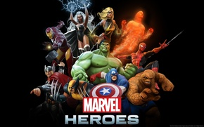 Picture Being, Storm, Wolverine, Hulk, steam, Captain America, Thor, Iron Man, Marvel Heroes, Spider-Man, Human Torch