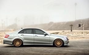 Picture Mercedes, wheels, E-class, side, Mercedes, E350
