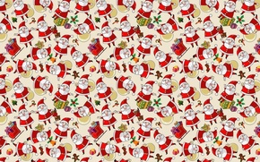 Wallpaper New year, holiday, Santa Claus