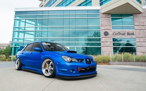 Picture turbo, wheels, subaru, japan, blue, wrx, impreza, jdm, tuning, power, front, sti, face, low, people, ...