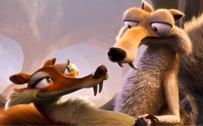 Wallpaper ice age, Ice Age, protein, cartoon