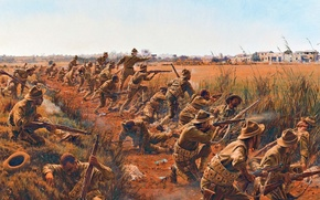 Picture war, figure, battle, art, soldiers, rifle, WWI, American, store, Springfield M1903, The Springfield M1903