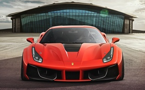 Picture Ferrari, Red, GTB, Design, Front, Supercar, 2015, 488