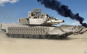Picture rendering, tank, Abrams, Abrams, main battle tank USA